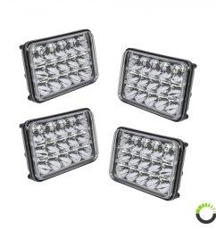 4 pack 6 x 4 led headlight [ 900 x 900 Pixel ]