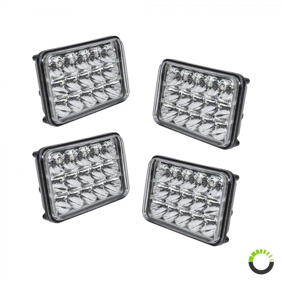 medium resolution of 4 pack 6 x 4 led headlight