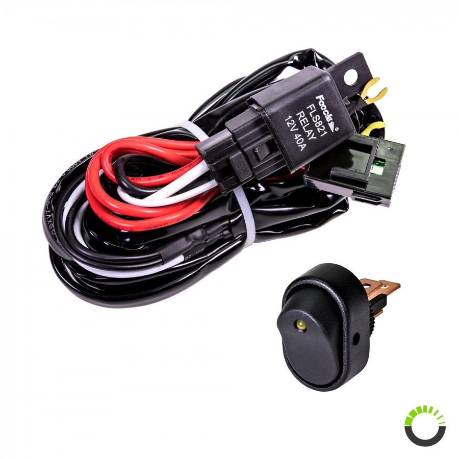 hight resolution of lamphus orwh04 off road light bar wiring harness set mini on off wiring harness 8ft on off power switch for off road led light bar