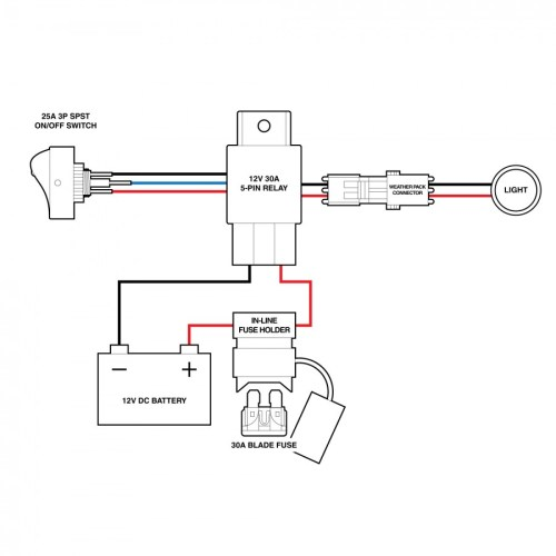 small resolution of switches relays lamphus off road led light bar wiring harness 4 pin relay starter