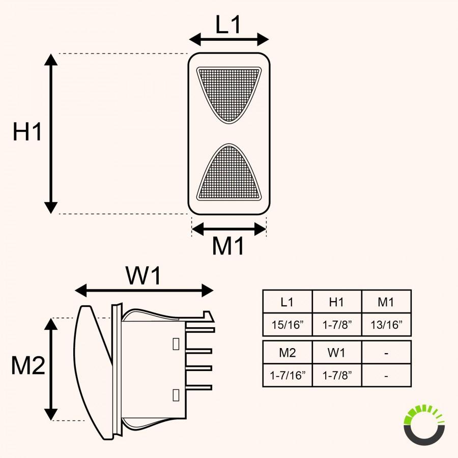 medium resolution of spdt on off on rocker switch 14v dc 20a 4 pin led