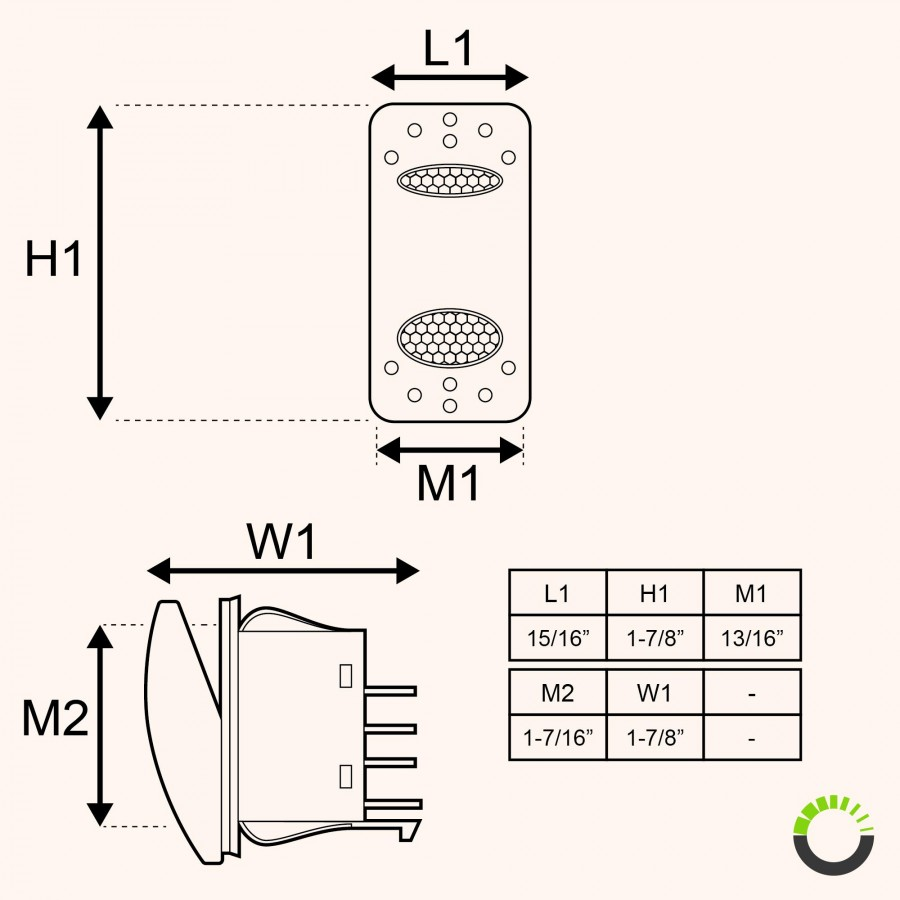 medium resolution of spdt on on rocker switch 14v dc 20a 4 pin led