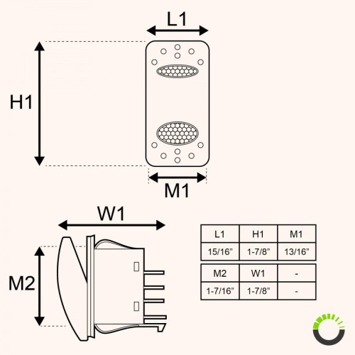 small resolution of spdt on on rocker switch 14v dc 20a 4 pin led