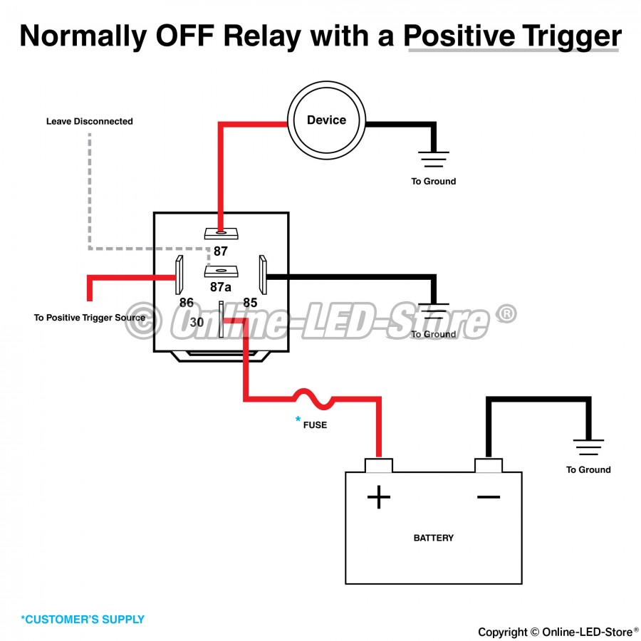 bosch style 5 pin relay