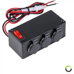 Cigarette Lighter Wiring Diagram Fancy Ponent The Best Land Cruiser 100 3 Port Adapter Outlet On Off Switch Extension Box