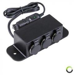 Cigarette Lighter Wiring Diagram Fancy Ponent The Best 12 Pin Flat Trailer Plug Car Adapter 3 Socket Outlet Extension Box