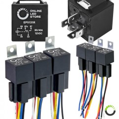 Led Light Bar Relay Wiring Diagram How To Create Process Flow 5 Pin Harness 40 Amp Socket Online Store 6 Pack Kit