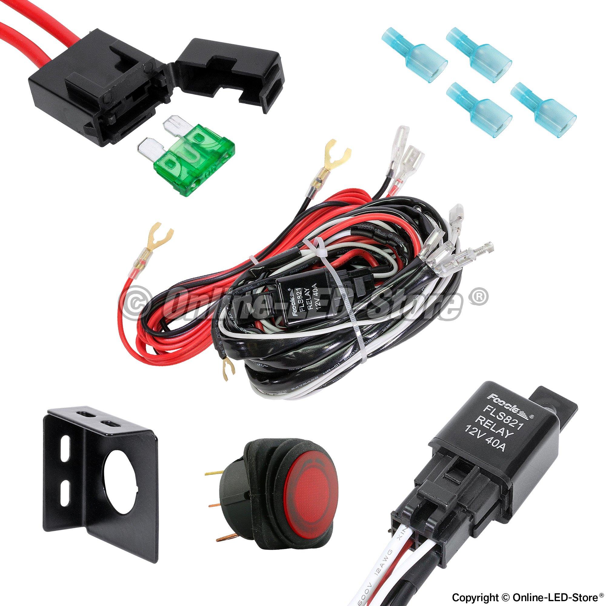 wiring diagram for off road lights jeep craftsman 1 2 hp garage door opener led light bar harness
