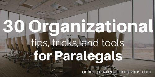 30 Organize Paralegal