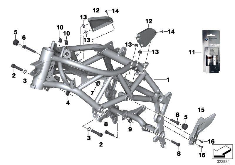 46517700044 spare part BMW BIKE spare part online