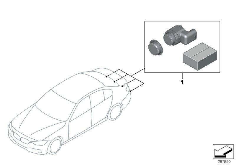 66202339614 Installkit Park Distance Controlrear BMW spare