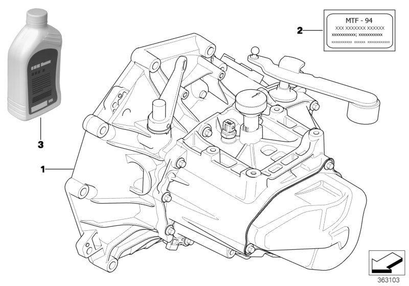 83222344589 Manual Transmission Fluid Mtf 2 BMW order