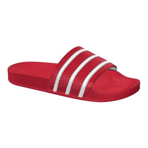 Adidas Adilette slippers rood/wit Hardloopschoenen adidas