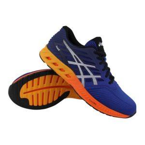 Asics fuzeX hardloopschoenen heren blauw/oranje