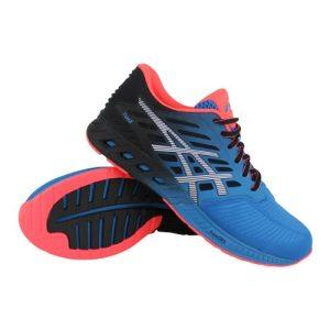 Asics fuzeX hardloopschoenen heren blauw/zwart/roze