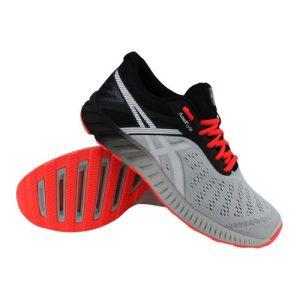 Asics fuzeX Lyte hardloopschoenen heren grijs/zwart/koraal