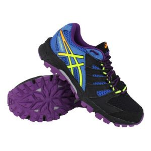 Asics Gel-FujiAttack 4 trailrunning schoenen dames zwart/blauw/paars