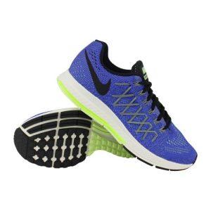 Nike Air Zoom Pegasus 32 hardloopschoenen heren blauw/zwart/lime