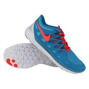 Nike Free 5.0 hardloopschoenen heren turquoise/oranje