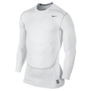 Nike Pro Combat LS 2.0 thermoshirt heren wit