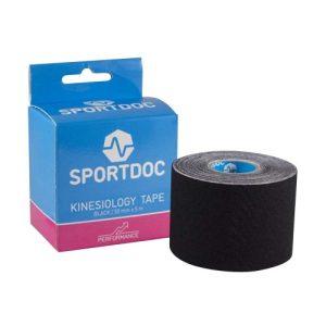 SportDoc Kinesiology tape zwart
