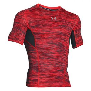 Under Armour CoolSwitch Compression shirt heren rood/zwart