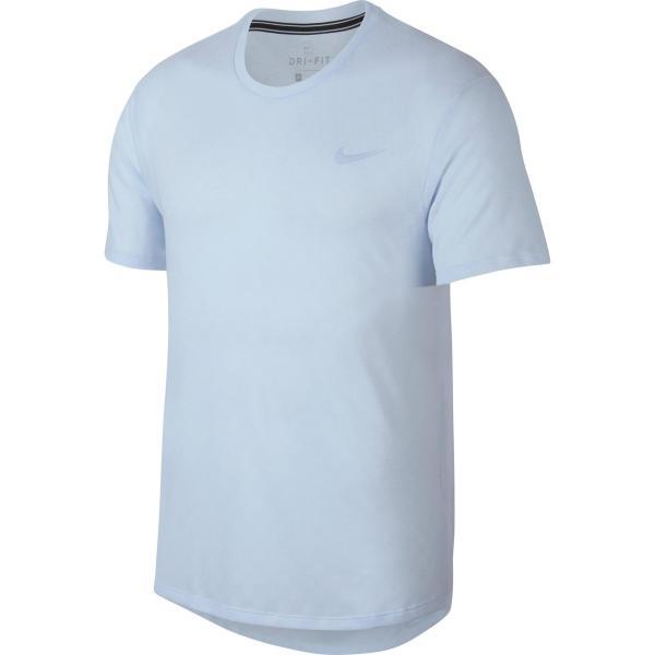Nike T-shirt voor tennis heren Challenger Crew blauw