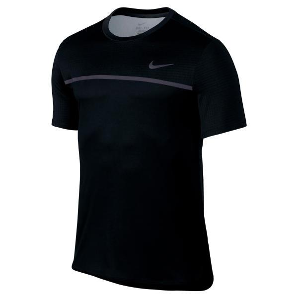 Nike Tennis T-shirt voor heren Challenger zwart