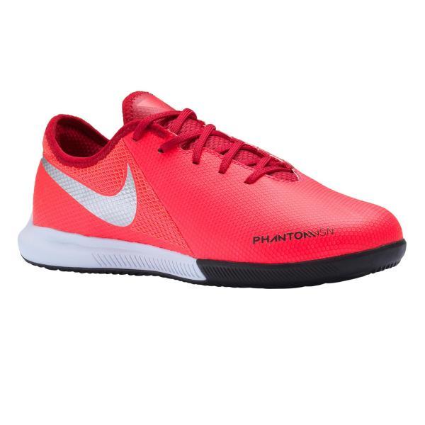 Nike Zaalvoetbalschoenen kind Phantom Vision Academy rood/zilverkleurig