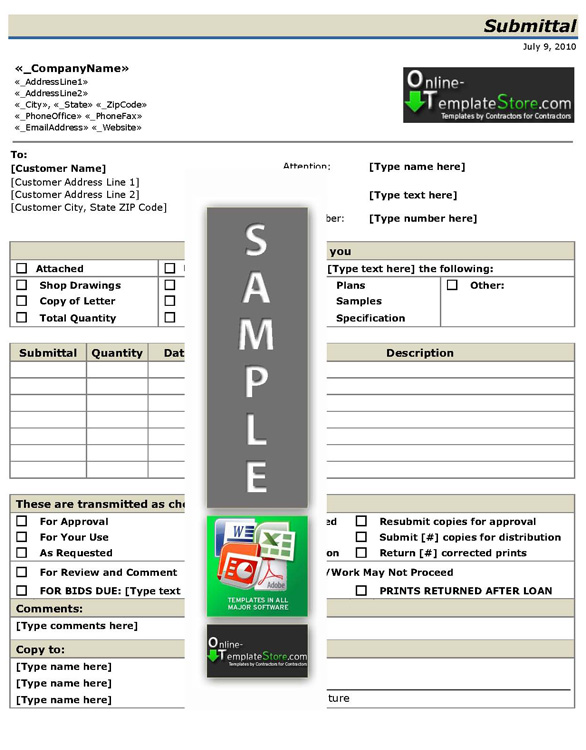 material submittal form template - Beste.globalaffairs.co