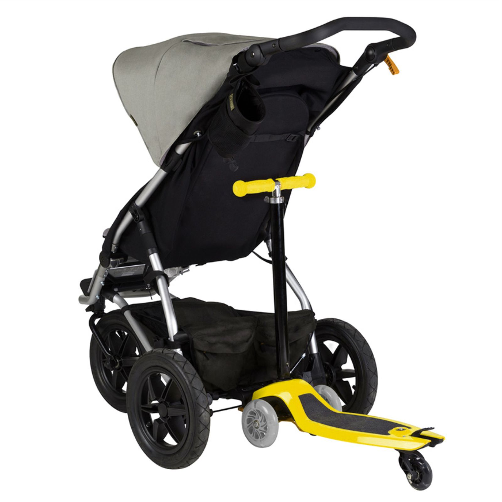 yellow wheelchair office chair wheel replacement mountain buggy freerider stroller board scooter