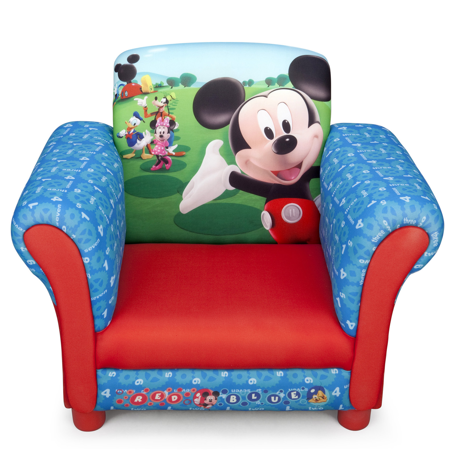 mickey mouse recliner chair uk hammock stands new delta children disney upholstered
