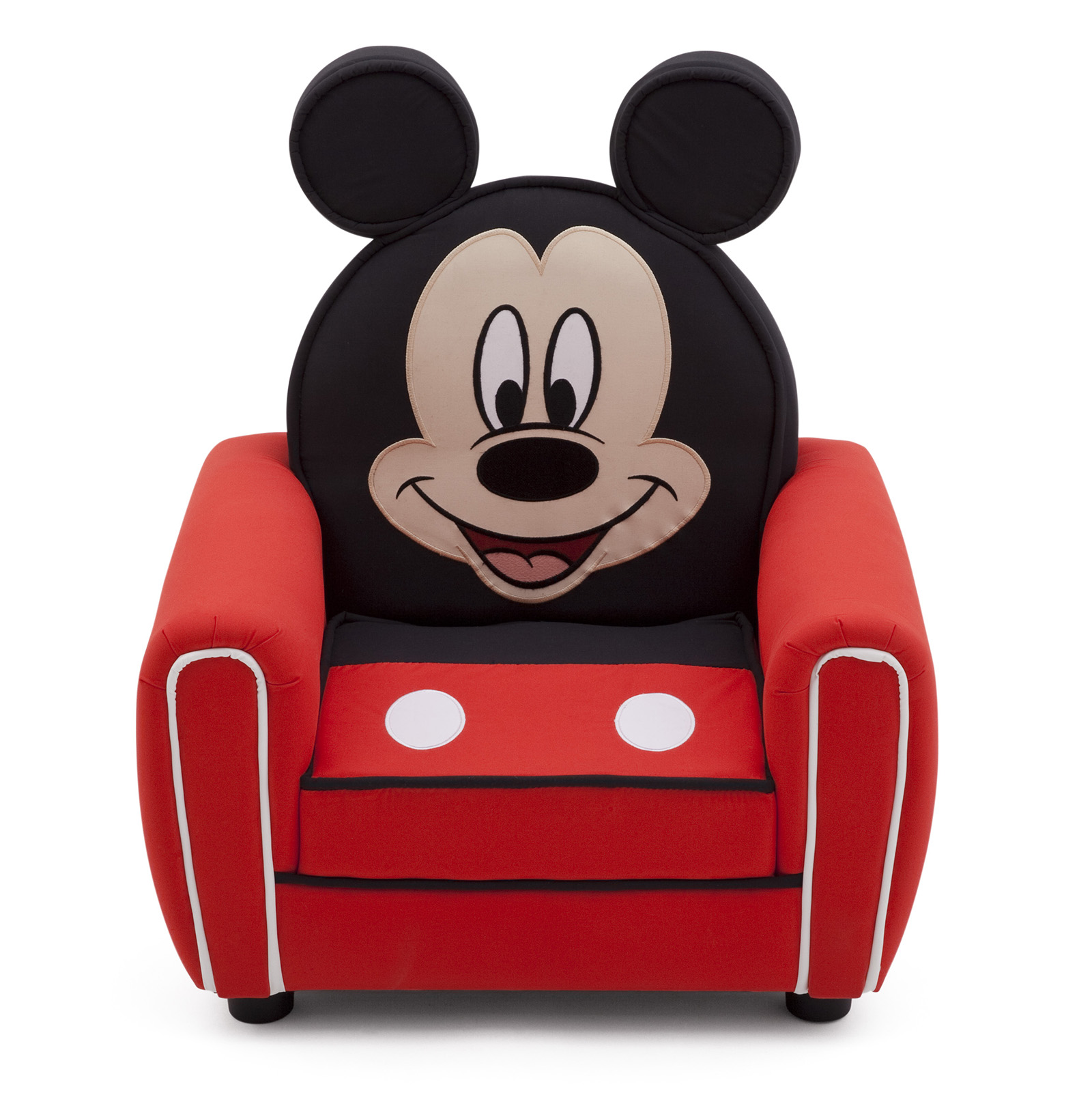 mickey mouse armchair uk booster seat straps to chair new delta children disney figural upholstered