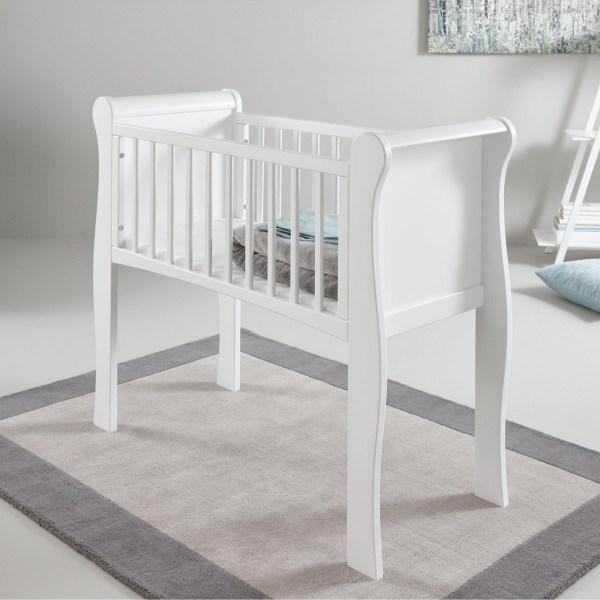 Little Acorns Sleigh Crib - White Online4baby