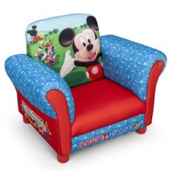 Mickey Mouse High Chair Decorations Intex Inflatable Review New Delta Children Disney Upholstered Kids Padded Armchair | Ebay
