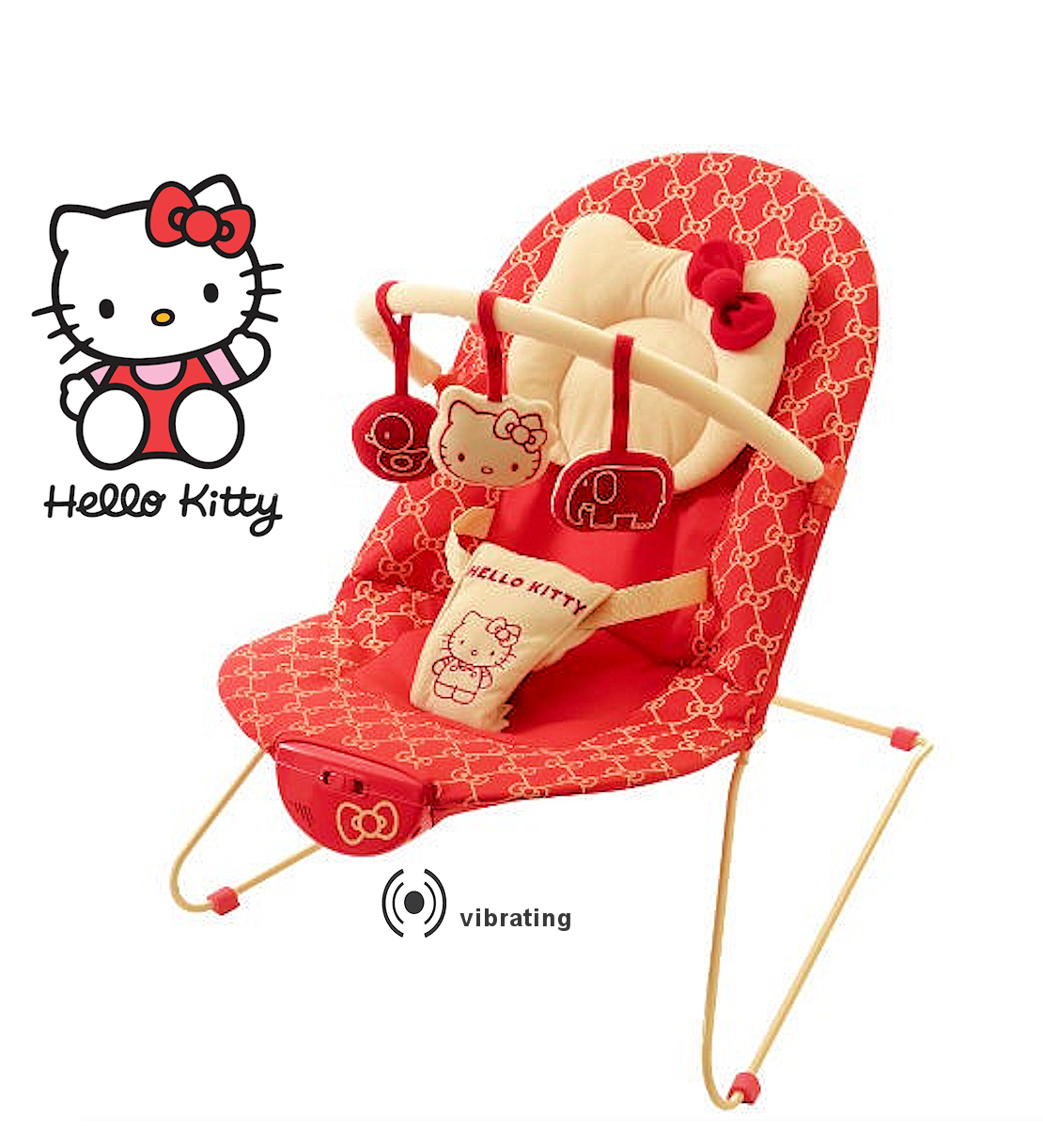 baby chair that vibrates swing umbrella new my child first hello kitty vibrating bungee