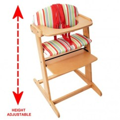 Height Adjustable High Chair Baby Office Mat 45 X 53 New Red Kite Feed Me Bistro Wooden | Ebay