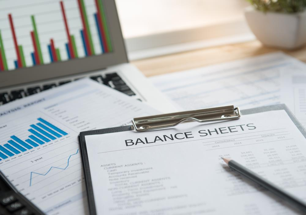 Balance sheet equation example