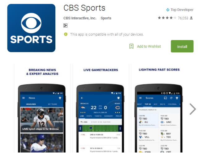 CBS Sports Android Apps