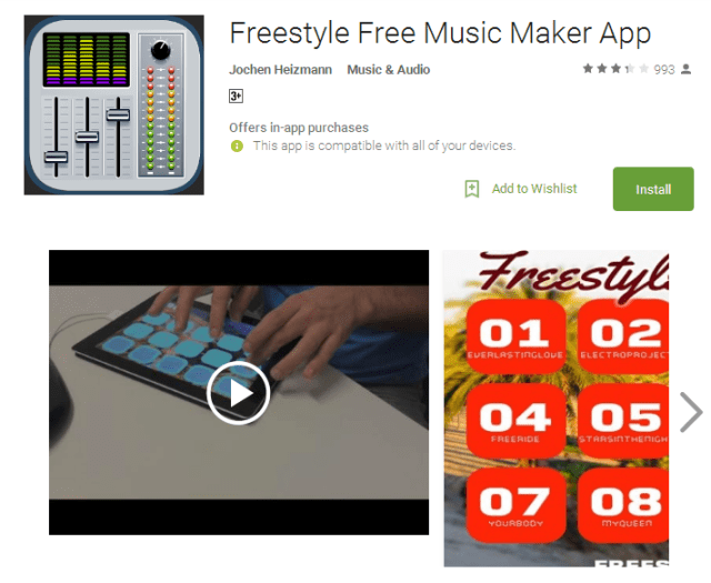 Freestyle Free Music Maker App for Android