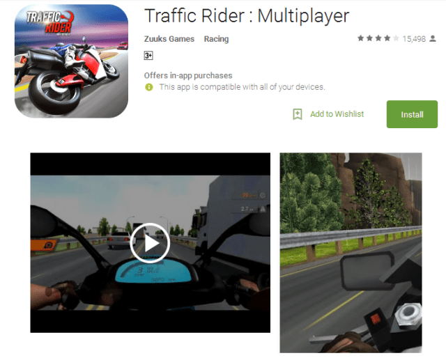 Traffic Rider Best Multiplayer android games