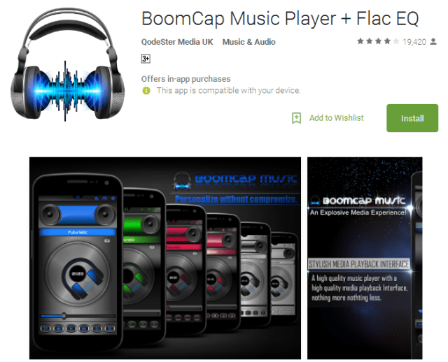 BoomCap Music Player Android Apps