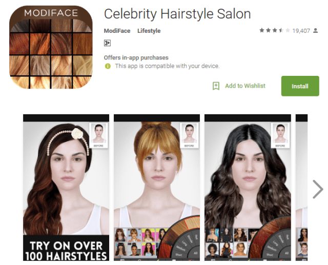 Celebrity Hairstyle Salon Android App