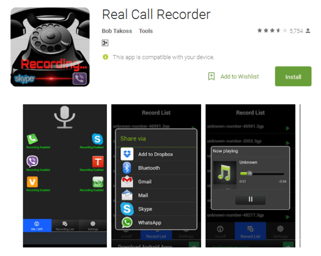 Real Call Recorder Android App