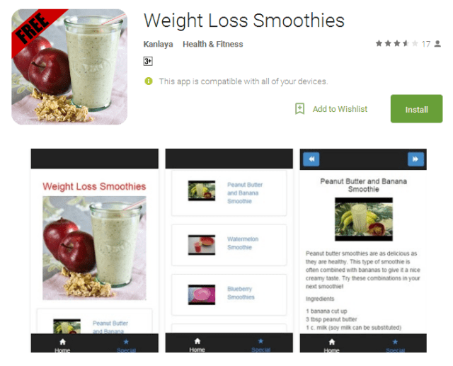 Weight Loss Smoothies Android Apps