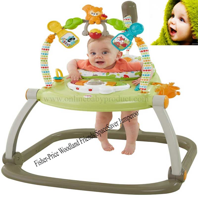 e468a332d340 Fisher-Price Woodland Friends SpaceSaver Jumperoo Review