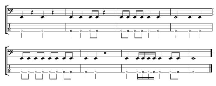 Bass Guitar Rhythms - Examples