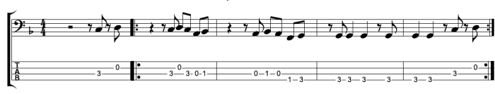 Locked Out Of Heaven FREE Bass Guuitar TAB:Notation