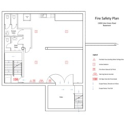 fire safety plan basement  [ 1200 x 1000 Pixel ]
