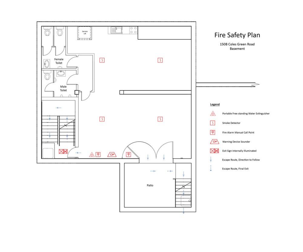 medium resolution of fire safety plan basement